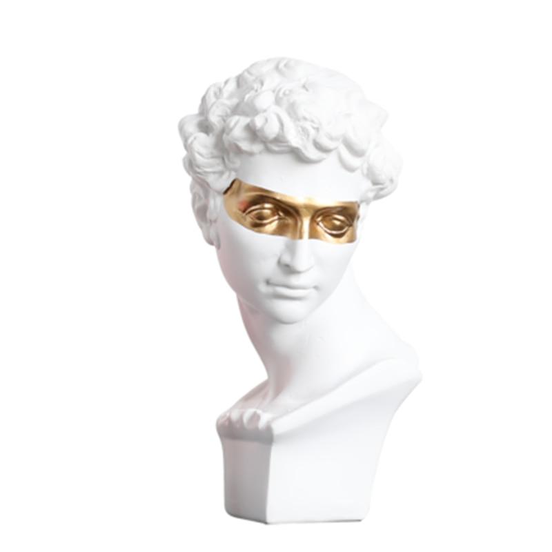 Nordic Style Gypsum Head Firenze Art Sculpture Giuliano De' Medici Figurine Creative Resin Craft Decorations For Home A765