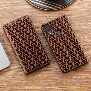 Image 5 - Grid Genuine Leather Flip Case For Lenovo P1 P1M P2 Z5 Z5S Z6 S5 K5 K5S A5 K6 K9 K10 A6 Lite Note Play Pro Plus Power Cover