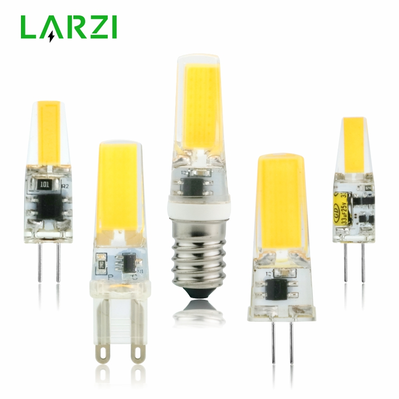 Dimmable G4 LED 3W 6W COB Light Bulb Capsule Lamp Replace Halogen Bulb AC DC 12V