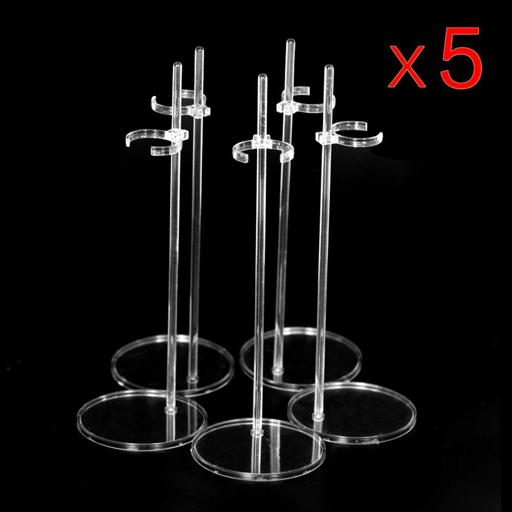 Ucanaan 5 Pcs/lot Doll Accessories Stand Display Holder Suitable For 1/6 Dolls Transparent Stent High Quality Plastic Material