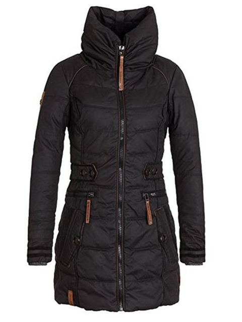 Women's Parkas Thicken Outerwear Solid Hooded 1
