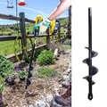 Grondboor สวนเกลียวเจาะบิตดอกไม้หลอดไฟ Hex Shaft Auger Yard สวนผ้าปูที่นอนปลูกโพสต์ Hole Digger เครื่องมือ