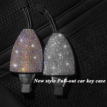 Creative Cute Pull-out Diamond Car Key Bag Multi-Function Set Cover Universal Lady key bag Organizer Auto Accessorie