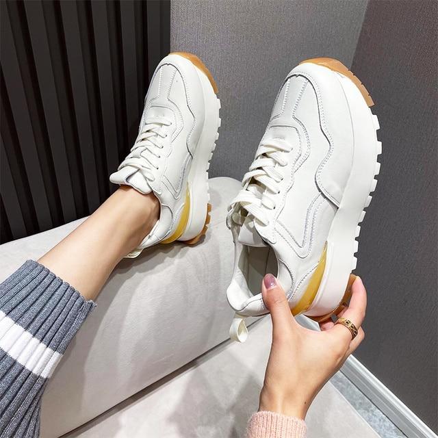 Женские кроссовки на платформе 3