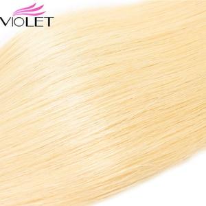 Image 5 - VIOLET Peruvian Straight 613 Blonde bundle Medium Ratio 8 26 Non Remy Human Hair Weave Tissage Blond Honey Hair 3/4 bundle Deal