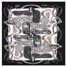 2020 nowy pas Paisley plac szalik luksusowej marki 100% Twill jedwabny szalik kobieta Bandanna chustka szal szale dla pani