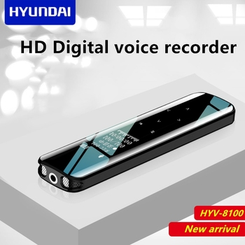 Hyundai HYV-8100 portable mini digital voice recorder voice-activated DSP denoise Dictaphone touch screen w/t stereo MP3 speaker
