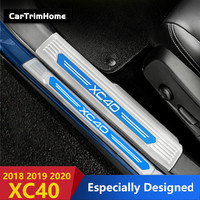 Stainless xc40 Accessories For Volvo XC40 2018 2019 2020 Door Sill Scuff Plate Pedal Trims car styling