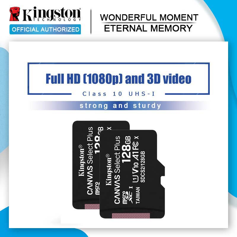 Kingston-carte Micro SD, 8 go/16 go/32 go/64 go/256 go/128, classe 4, TF, carte mémoire