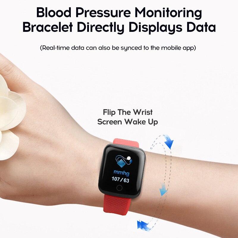 TEZER D13 Smart Watch 116plus Wristband Blood Pressure Measurement Heart Rate Monitor Smart Bracelet 116 Plus Fitness Tracker