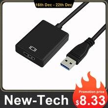 USB 3,0 к HDMI типа «Мама»; Аудио Видео адаптер конвертер кабель для Windows 7/8/10 шт