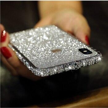 Θήκη γυναικεία bumper diamond bling shining για apple iphone 11 pro xs max xr x 8 7 6 s 6s plus 11pro