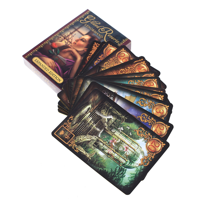 47 Pcs Oracle Tarot Cards Glided Reverie Lenormand expanded edition Board Deck Games Palying Cards For Party Game 5