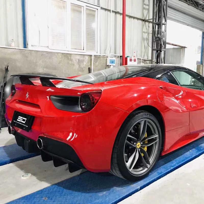 Carbon Fiber Rear Wing For Ferrari 488 Carbon Fiber Rear Spoiler For Ferrari 488 Spider For Ferrari 488 Gtb Rear Spoiler Spoilers Wings Aliexpress