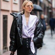 Однотонное пальто с высоким воротником Женская осенне зимняя