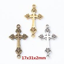 30 pçs do vintage cruz liga de zinco encantos pingente diy pulseira colar jóias de metal acessórios fazendo 8225