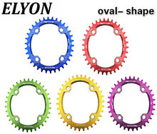 ELYON Bicycle Crank 104BCD Oval 32T 34T 36T 38T Chainring Narrow Wide Ultralight MTB Bike Chainwheel Circle Crankset Plate(China)