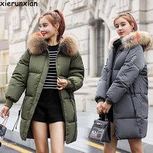 Тонкое зимнее пальто для беременных, модный пуховик для беременных женщин, свободное плотное длинное пальто, ветровка, теплое для беременных