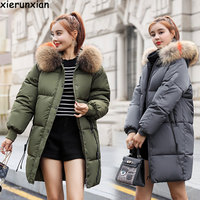 Look thin Maternity winter coat 2019 fashion down jacket for pregnant women loose thick Long coat windbreaker Warm pregnant