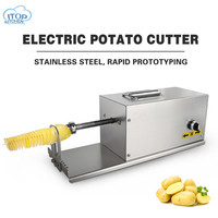 Commercial Potato Twister Three Function Tornado Slicer Cutting Machine Automatic High Quality Electric Potato Spiral Cutter