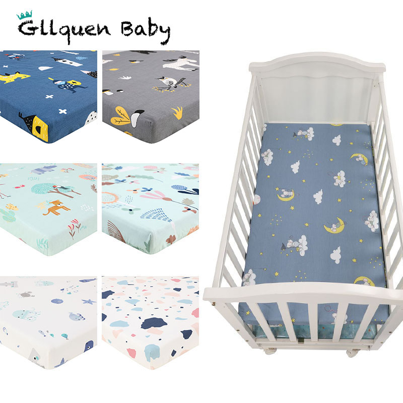 2 Pack Baby Crib Sheets Cotton Fitted Crib Sheet Set And Toddler Bed Sheets Standard Crib And Toddler Bed Mattress 130*70 CM