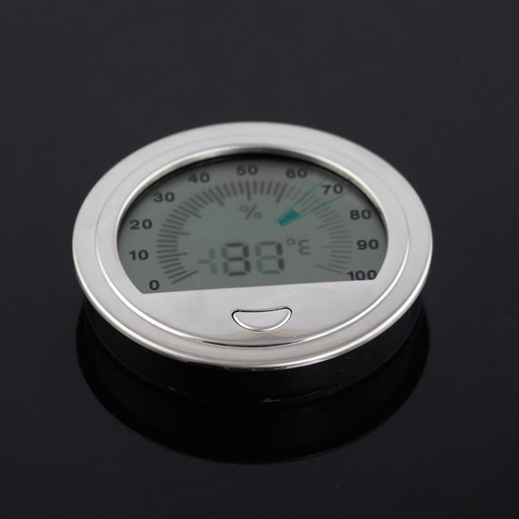 Round Cigar Hygrometer Pocket Plastic Electronic Humidor Gadget Ultra Light Cigars Accessories Fit Cohiba Humidor Box