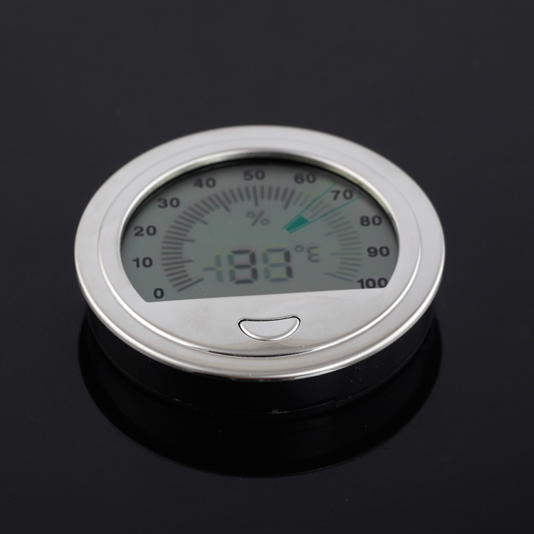 Round Cigar Hygrometer Pocket Plastic Electronic Humidor Gadget Ultra Light Cigars Accessories Fit Cohiba Humidor Box