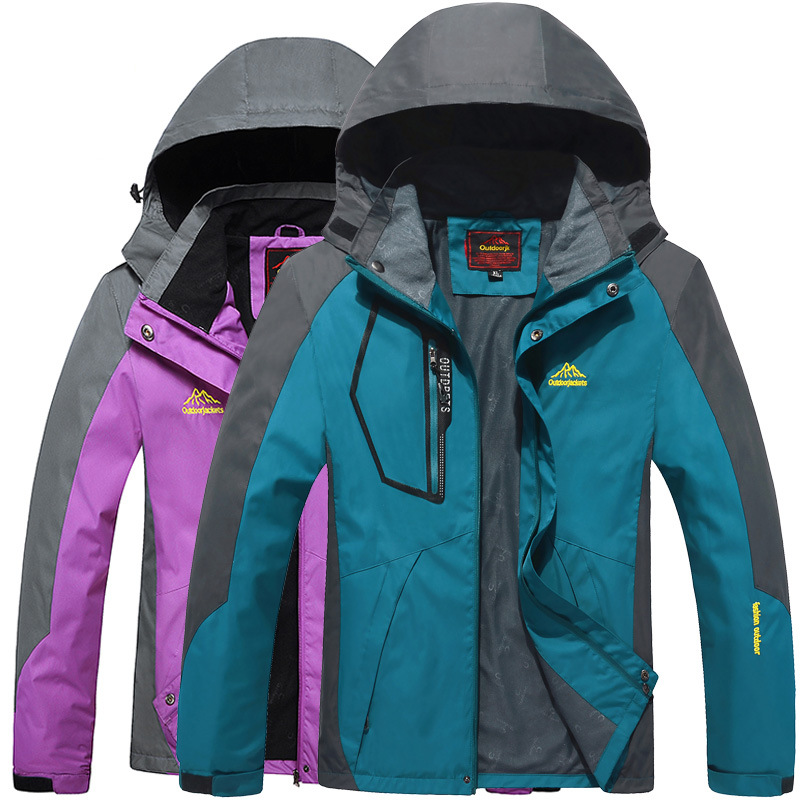 Men's And Women's Thin Outdoor Windproof Waterproof Breathable Hooded Mountaineering Spring And Autumn