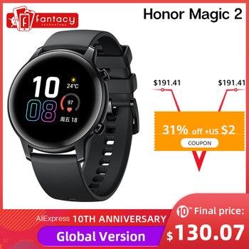 Versão global huawei honra relógio mágico 2 relógio mágico 2 relógio inteligente 42mm de oxigênio no sangue spo2 chamada telefone freqüência cardíaca para android ios