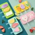 Новые силиконовые мороженое плесень Эскимо Плесень DIY домашнее стильная футболка с изображением персонажей видеоигр мороженое, лед, ледене...