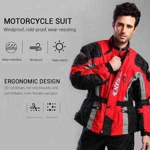 Image 5 - DUHAN Chaqueta de motocicleta resistente al frío, traje de moto para otoño e invierno, equipo de protección y ropa de paseo
