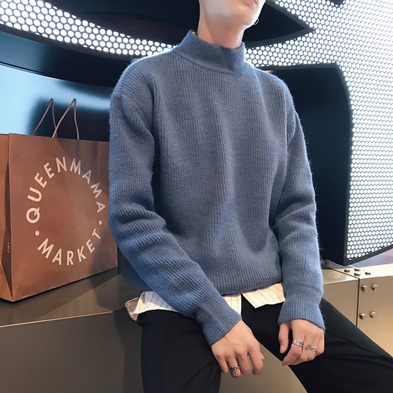 2019 New Autumn And Winter Korean Fashion Sweater Thickened Pullover Undercoat  Plush Thicker Sweater