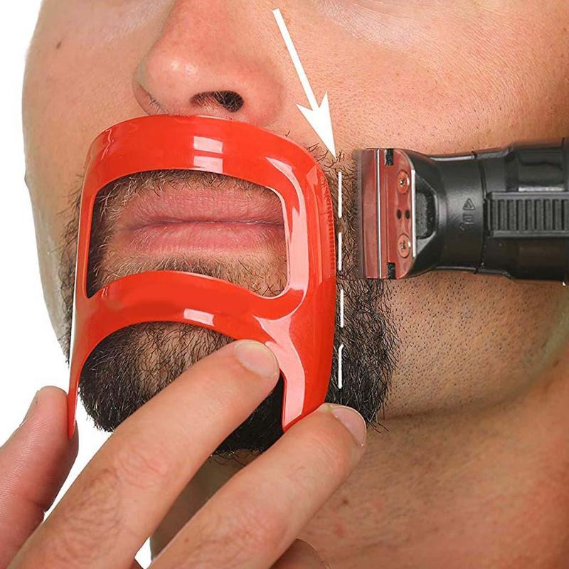 Men Beard Shaping Stencil Neckline Edge Back Hair Trimming Shaver Template Stencil Mold Beard Trimmer Stencils Hair Styling Tool