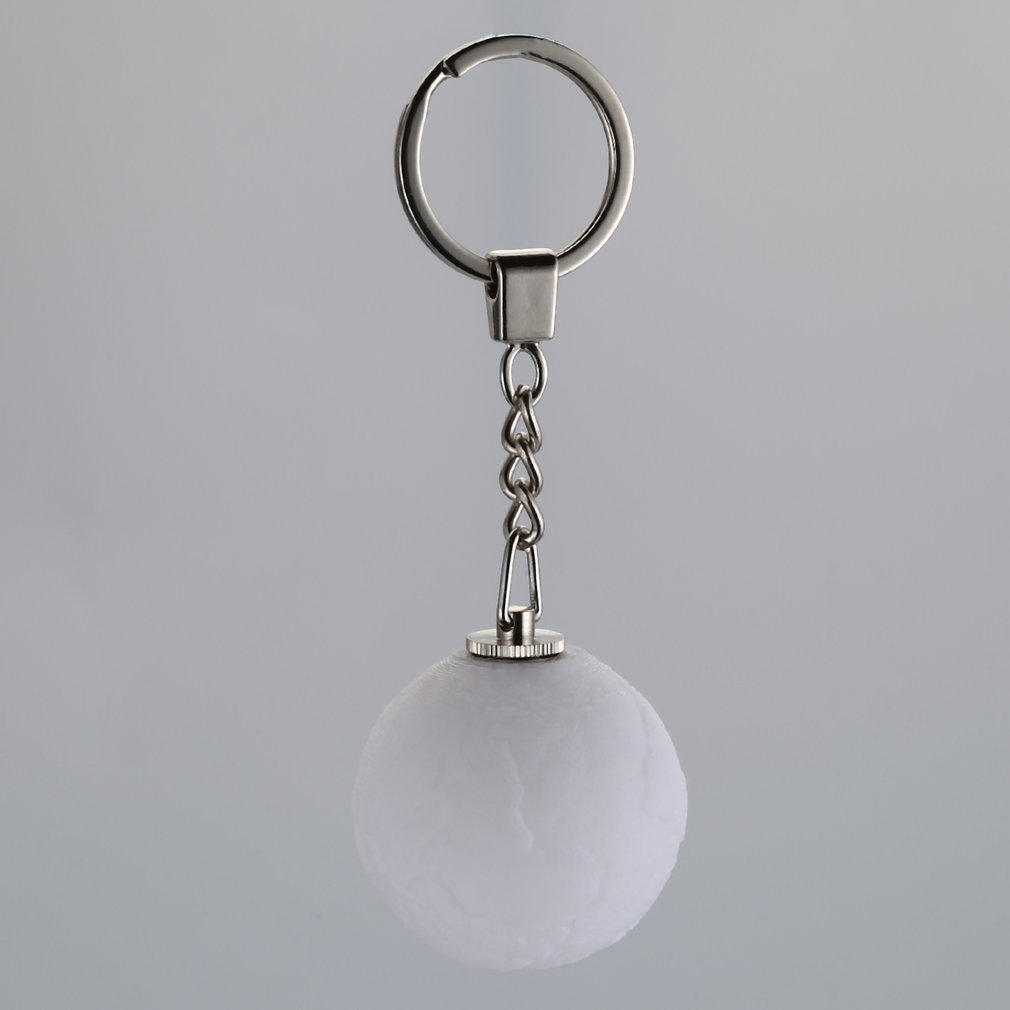 Mini Moonlight LED 3D Print Keychain 3D Printing LED Moon Nightlight Keychain Creative Key Ring Gift For Friends LED Lighting