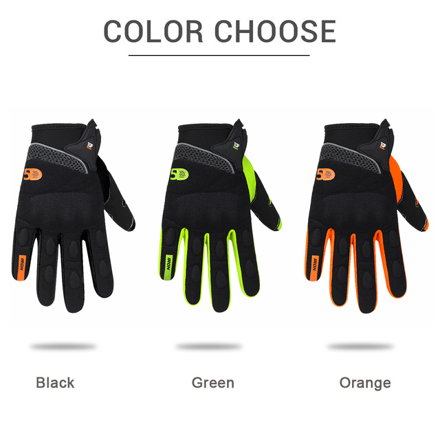 Ridding Gloves Guantes Moto Touch Screen Motorcycle Gloves Mesh Breathable Spring And Autumn Full Finger Gloves Anti-slip 3