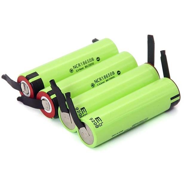 2019 New Original NCR18650B 3.7 v 3400mah 18650 Lithium Rechargeable Battery Welding Nickel Sheet batteries 4