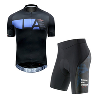 Santic Men Summer Cycling Suits Jersey shorts Set MTB Bicycle Cycling Clothing Mountain Bike Wear Clothes Breathable