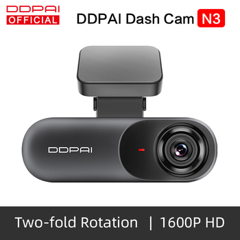 DDPai Dash Cam Mola N3 1600P HD GPS Vehicle Drive Auto Video DVR Android Wifi Smart Connect Car Camera Hidden Recorder Parking