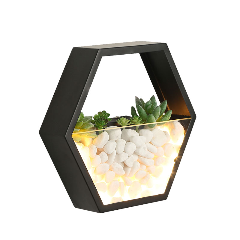 (WECUS) Nordic Simulation Plant Wall Lamp, Bedroom Bedside Lamp, Creative Plant Decorative Wall Lamp