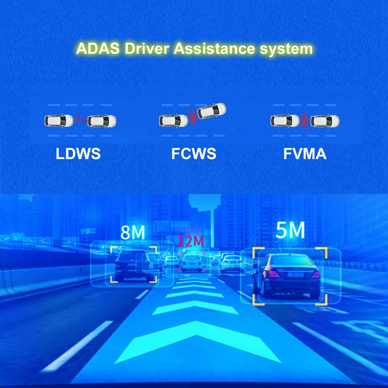 Android 8.1 Car DVR GPS Navigator Camera 10Inch FHD 1080P Stream Media Rear View Mirror 4G GPS Mirror Dash Cam Recorder ADAS Wif - 4
