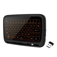 Top H18+ Wireless Air Mouse H18 Plus Mini Keyboard Full Touch 2.4GHz Keyboard Touchpad with Backlight For TV For PS3