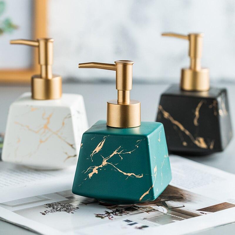 Bathroom Accessories Creative Ceramic Hand Sanatizer Holder Dispenser Bottle Conditioner Disinfectant Bottle seifenspender 1