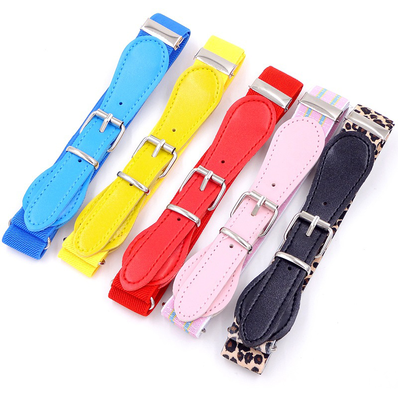 Child Girls Candy Color Wide Elastic Waist Belt Waistband Clothing Accessories