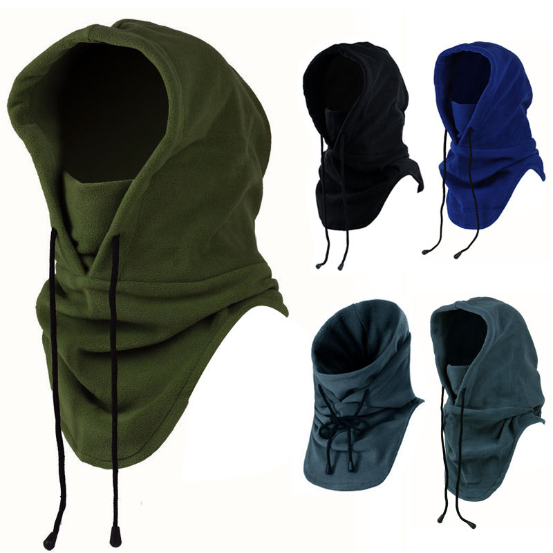 mask Full Face Mask Fleece Cap Balaclava Neck Warmer Hood Winter Sports Ski Men Women tactical mask men mask  sun Warm headgear