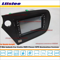 Liilsee For Honda Insight 2008~2014 Radio CD DVD Player & GPS Nav Navi Navigation System / Double Din Car Audio Installation Set