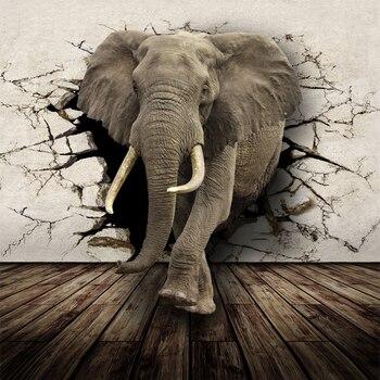 3D Lifelike Animal Mural Wallpaper Customized Rhino Lion Elephants Non-Woven Fabric Wall Mural New Photo Wallpaper Home Decor fashion city photo wallpaper brooklyn bridge new york designer wall mural black