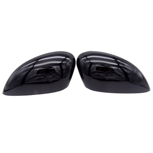 Image 2 - 1 Pair Black Left & Right Car Wing Door Rear View Rearview Mirror Covers Cap Trim Case For Ford Fiesta Mk7 2008 2017