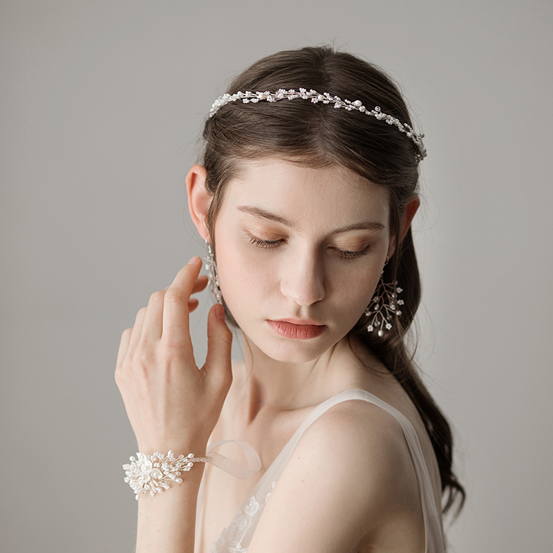O364-1 Lots of Freshwater Pearl Beaded Fashion Hairbands Headbands Wedding Headpiece Bridal Hair Accessories For Wedding
