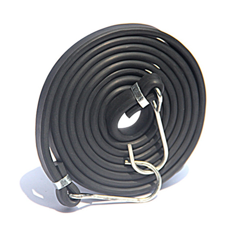 Motorbike Elastic Rubber Bungee Cord Strap Stretch Belt With Double-end Metal Hook Car Luggage Tent Kayak  Bikes Rope Tie