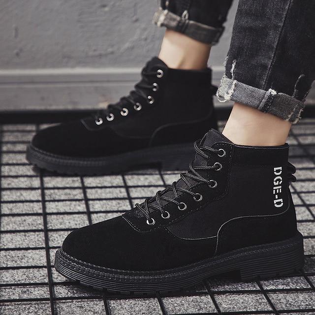 Men Casual Shoes Ankle Boots Black Chelsea Boots Zapatos De Hombre 10